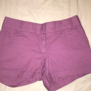 J. Crew Chino Purple Shorts
